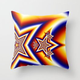 Star Rocket Throw Pillow