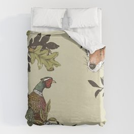 Fox & Pheasant Duvet Cover
