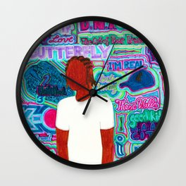 Kendrick Psychedelia Wall Clock