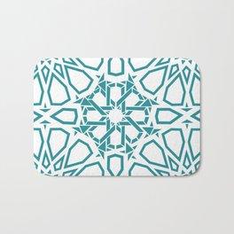Moroccan Mosaic Blue Bath Mat
