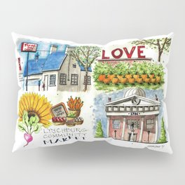 Lynchburg, Virginia - 4 Scenes Around Town Pillow Sham