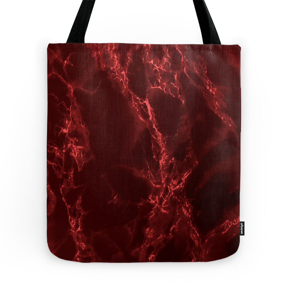 Red Marble Tote Purse by lauragordon (TBG9518976) photo