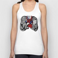 lungs Tank Tops featuring Heart&Lungs by Emma J. Hardy