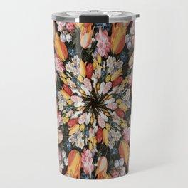 Flemish Floral Mandala 2 Travel Mug