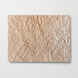 Tan Textured Wall Metal Print