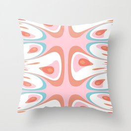 Algorithmic abstract shapes Throw Pillow
