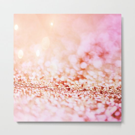 Pink shiny glitter - Sparkle Girly Valentine Backdrop on #Society6 Metal Print
