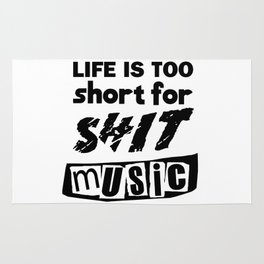 """Life is Too Short"" inspired by The Ramones, The Stooges, The Clash & The Sex Pistols Rug"