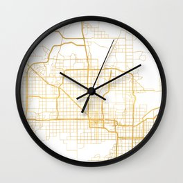 PHOENIX ARIZONA CITY STREET MAP ART Wall Clock