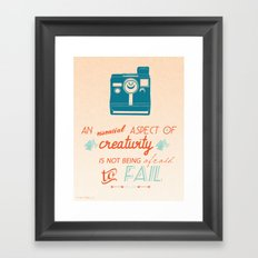 Creativity Inspirational Quote Framed Art Print
