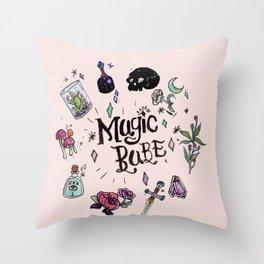 Magic Babe Throw Pillow