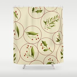Vintage Baubles #society6 #xmas Shower Curtain