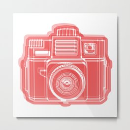 I Still Shoot Film Holga Logo - Red Metal Print