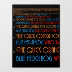 The Quick Orange Fox Canvas Print