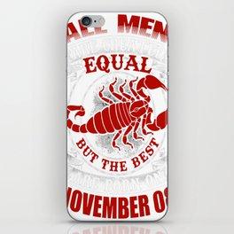 Best-Men-Are-Born-on-November-08---Scorpio---Sao-chép iPhone Skin