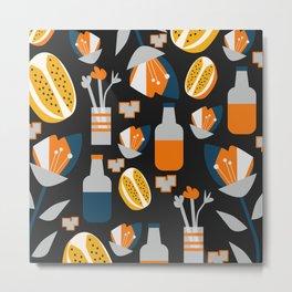 Orange juice Metal Print