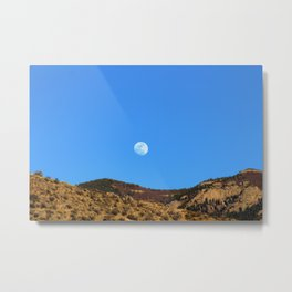 Moon Rising Over the Sandia Mountains 2 Metal Print