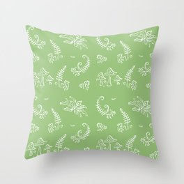 Lady Fern - Green Throw Pillow