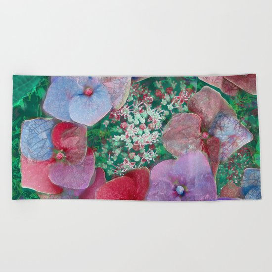 Floral abstract(55) Beach Towel