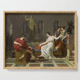 Cleopatra and Octavian Serving Tray
