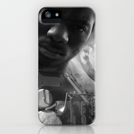 Man and the train iPhone Case