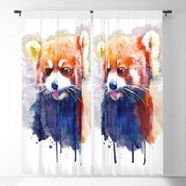 Red Panda Portrait Blackout Curtain