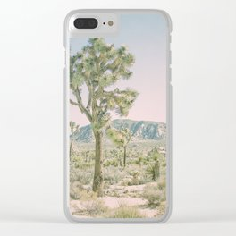 Joshua Tree Ombre Clear iPhone Case