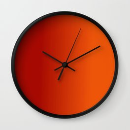 Ombre in Red Orange Wall Clock