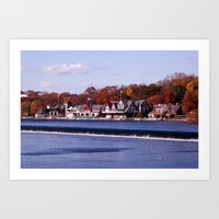 rowing Art Prints featuring Rowing by Scott Kuhn