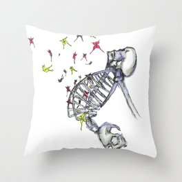Butterflies In My Tummy Throw Pillow