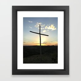 Ruby Ranch Cross Framed Art Print