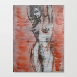 untitled (female figure) Canvas Print