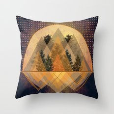 try again tree-angles mountains Throw Pillow