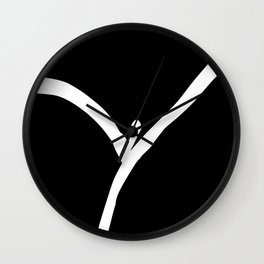 Vagina 1b by Kathy Morton Stanion Wall Clock