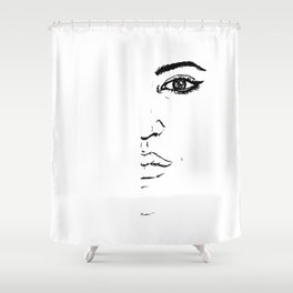 Black and white Pen pattern drawing3 Shower Curtain