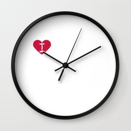 I Heart Lady's Slipper | Love Lady's Slipper - Cypripedium Wall Clock
