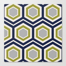 Hexagons and Zigzags Canvas Print