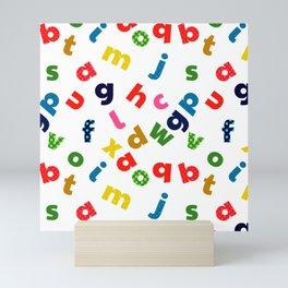 colourful alphabet Mini Art Print