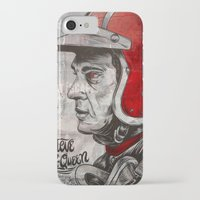 steve mcqueen iPhone & iPod Cases featuring McQueen by EL GRAN TOCAYO