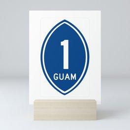 Guam Highway 1 Shield  Mini Art Print