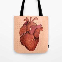 Anatomical Human Heart - Peach/Pink Version Tote Bag