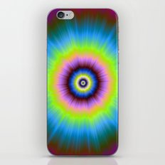 Tie-Dye in Blue Pink Yellow and Green iPhone & iPod Skin