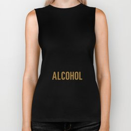 My Blood Type is Alcohol Funny T-shirt Biker Tank