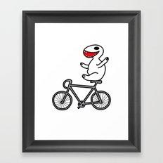 WIT bike riding Framed Art Print