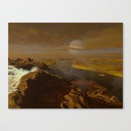 Titan river delta Canvas Print