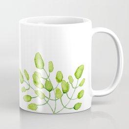Watercolor green leaves Coffee Mug