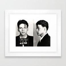 Frank Sinatra Mug Shot  Framed Art Print