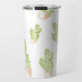 cactus christmas tree Travel Mug
