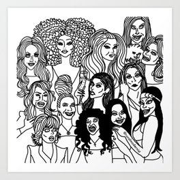 Real housewives pt. 2 Art Print