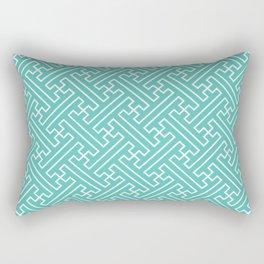 Lattice - Turquoise Rectangular Pillow